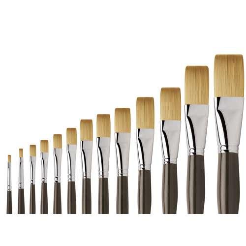 I Love Art Flat Acrylic Brushes