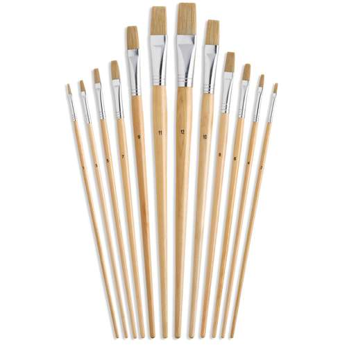 I Love Art Eco Flat Bristle Brush Set