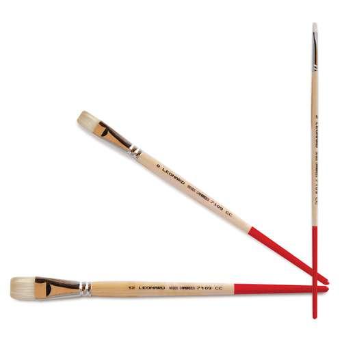 Léonard Series 7110 CC Flat Bristle Brushes
