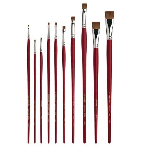 Léonard Series 2160 CC Pure Kolinsky Short Flat Sable Brushes