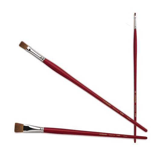 Léonard Series 2160 PL Pure Kolinsky Flat Sable Brushes