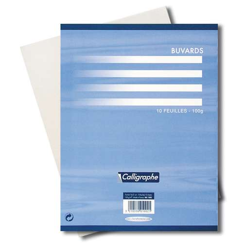 Pack Of 10 Clairefontaine Blotting Paper Sheets