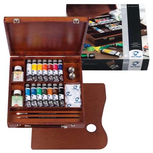 Royal Talens Van Gogh Inspiration Oil Colour Wooden Box Set