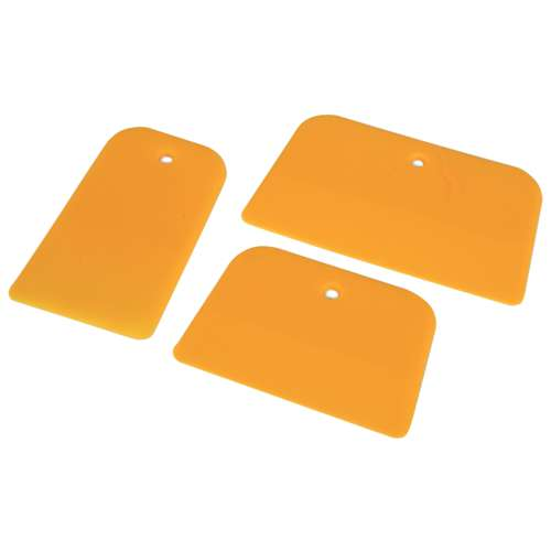 Yellow Plastic Spatula Set