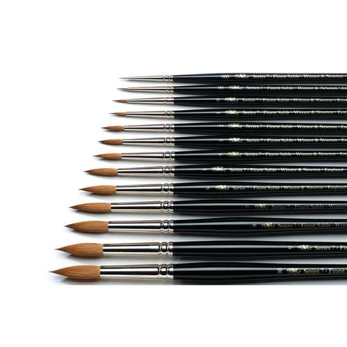 Winsor & Newton Series 7 Red Sable Watercolour Brushes