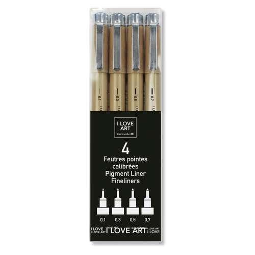 I Love Art Calibrated Tip 4 Marker Set