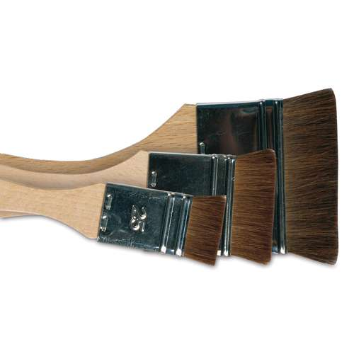 Wide Pony Hair Brushes