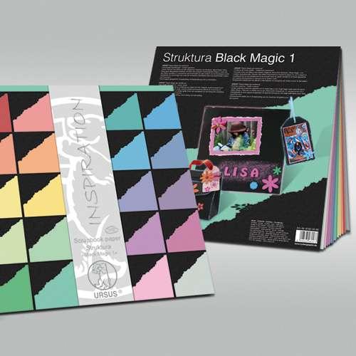 Ursus Struktura Black Magic Scrapbook Paper Pad