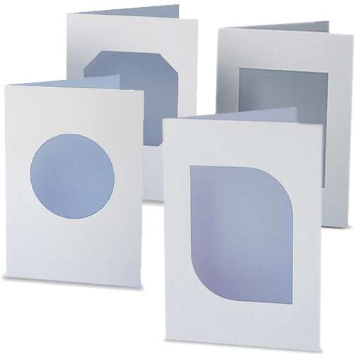White Window Greetings Cards