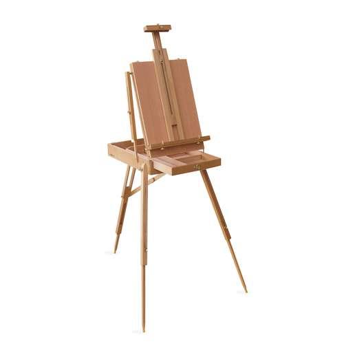 I Love Art Varnished Beech Wood Box Easel