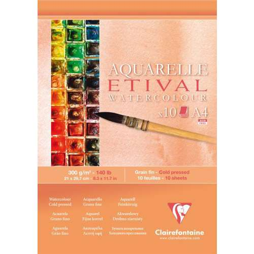 Clairefontaine Etival Cold Pressed Watercolour Pads 300gsm