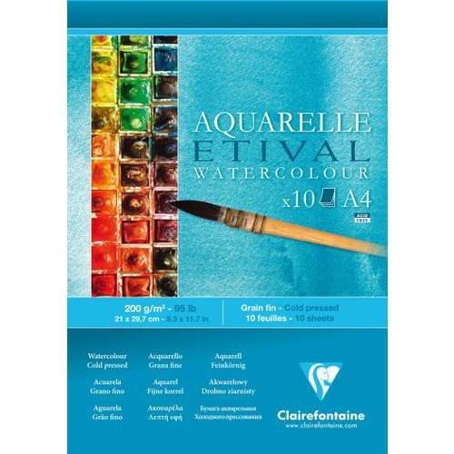 Clairefontaine Etival Cold Pressed Watercolour Pads 200gsm