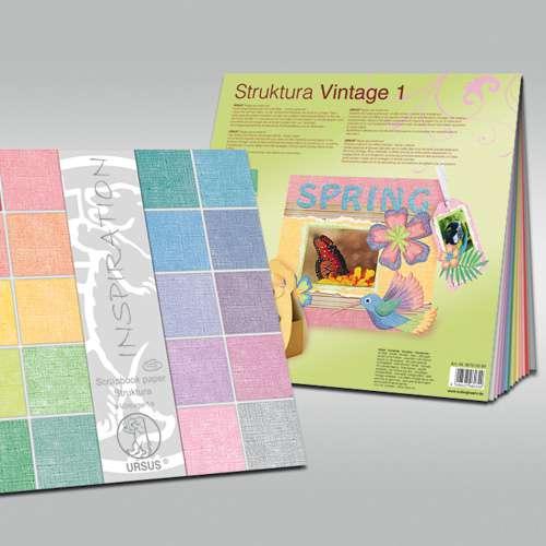Ursus Struktura Vintage Scrapbook Paper Assortments