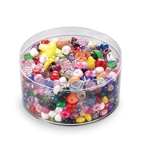 Coloured Plastic Bead Assortment