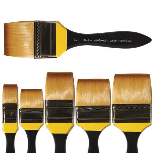 Daler-Rowney System 3 Spalter Acrylic Brushes SY278