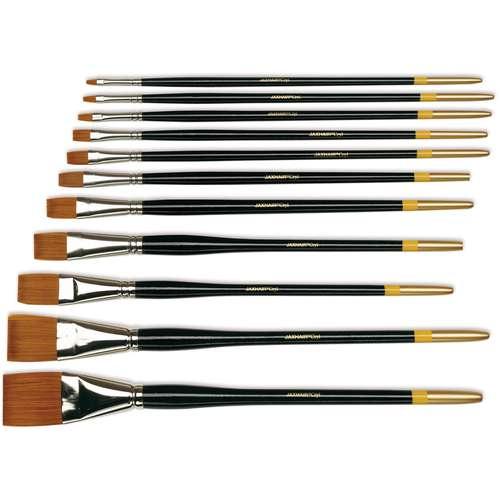 Jax-Hair Cryl Flat Acrylic Brushes