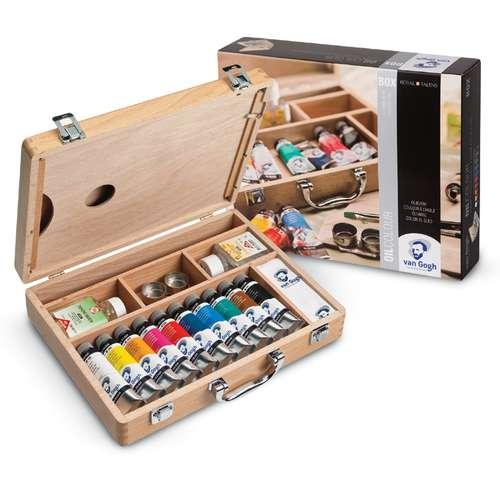Royal Talens Van Gogh Basic Oil Colour Wooden Box Set