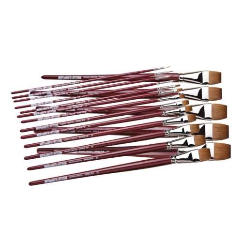 Da Vinci Red Sable Flat Oil Brushes Series 1810