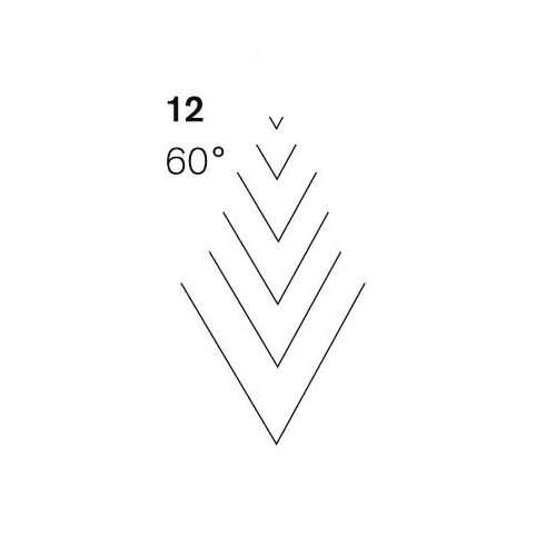 Pfeil Professional Deers Foot 60° Gouge Blade 12