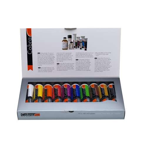 Royal Talens Cobra 10-Tube Water Mixable Oil Colour Set