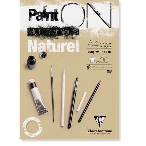 Clairefontaine Paint On Naturel Paper