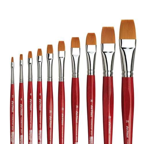 Da Vinci Cosmotop Spin Series 5880 Flat Brushes
