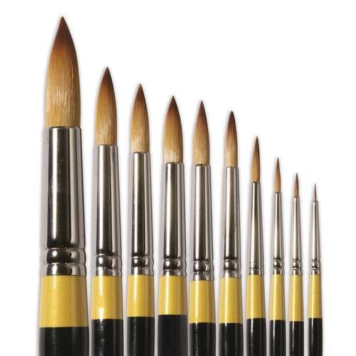 Daler-Rowney System 3 Round Acrylic Brushes SY85