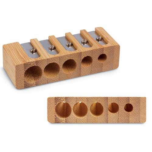 Bamboo 5-Hole Pencil Sharpener