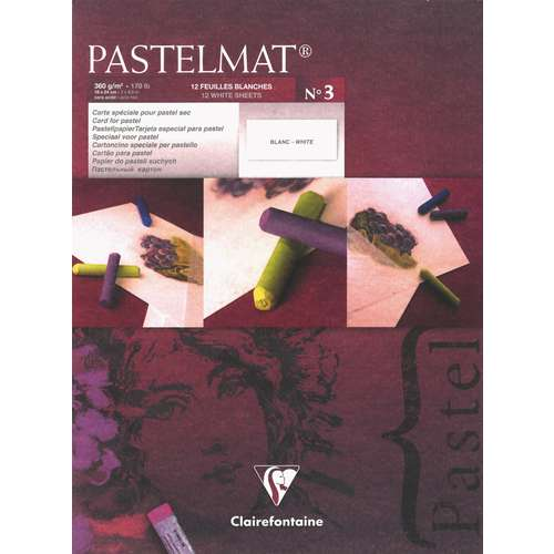 Clairefontaine White No. 3 Pastelmat Pads