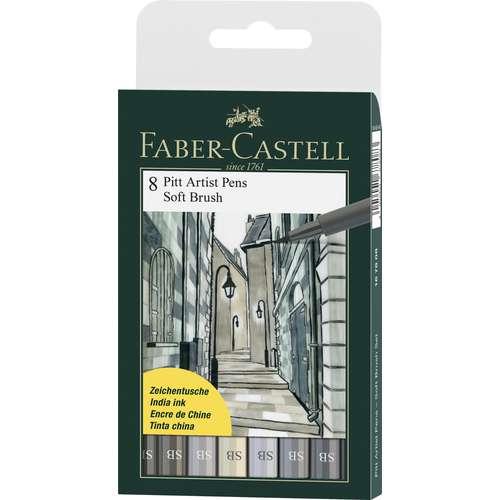 Faber-Castell Pitt Artist Pen Soft Brush Set of 8