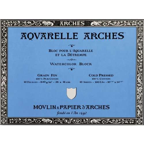 Arches Aquarelle Watercolour Paper Blocks 640gsm