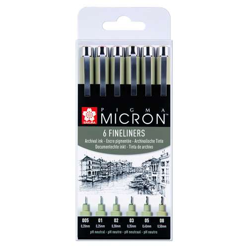 Sakura Pigma Micron Fineliner Pens