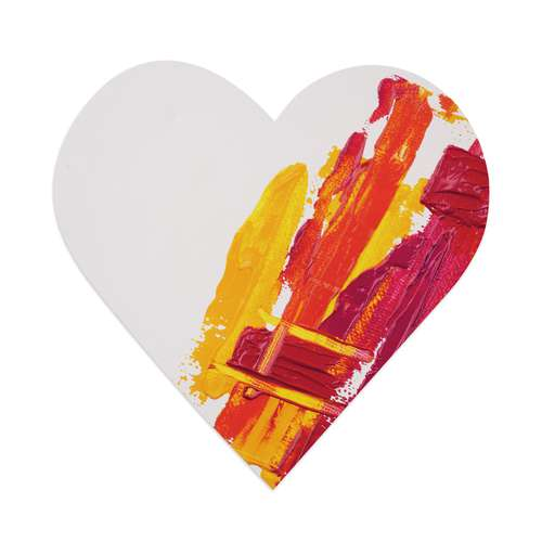 Gerstaecker Heart Shaped Stretched Canvases