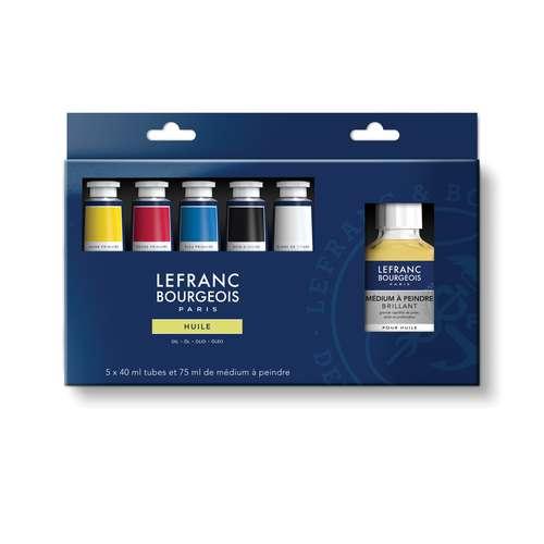 Lefranc & Bourgeois Extra Fine Primary Colours Oil Paint Set