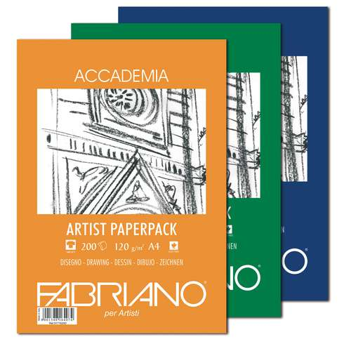 Fabriano Accademia Artist Paper Packs