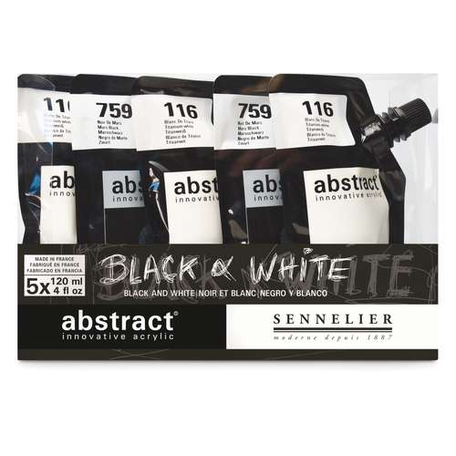 Sennelier Abstract Acrylic Black and White Set
