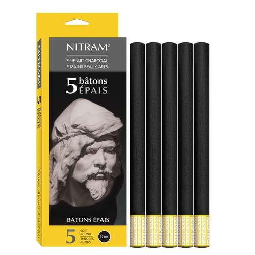 Nitram Charcoal Batons - Extra Soft