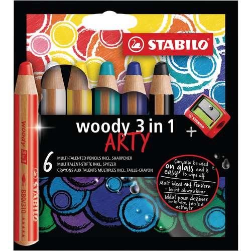 Stabilo Woody 3 in 1 Arty Sets