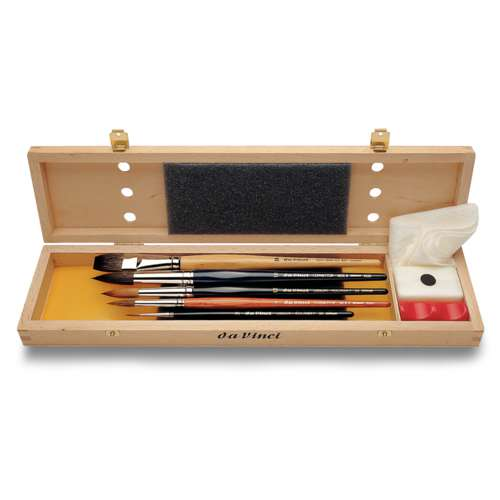 Da Vinci Watercolour Brush Wooden Box Set