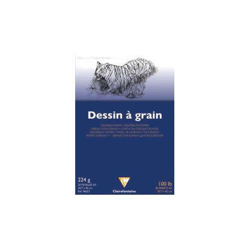 Clairefontaine Dessin à Grain Drawing Pads - 224gsm